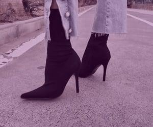 fashion, purple, and shoes image