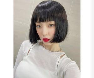 bangs, girl, and korean image