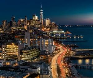america, new york, and roads image