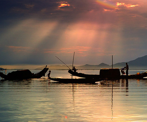 peaceful and countryside of vn image
