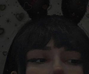 aesthetic, bunny ears, and edgy image