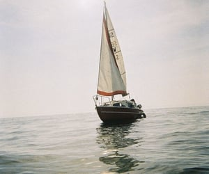 sea, boat, and ocean image