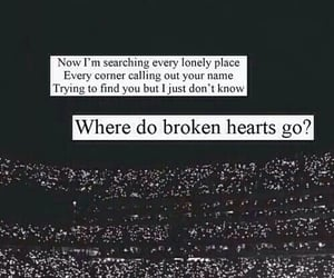 one direction, where do broken hearts go, and Lyrics image