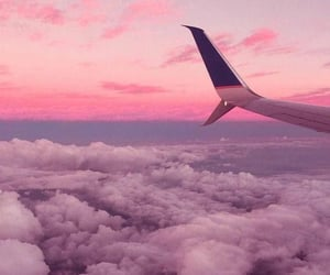 fly, sky, and pink image