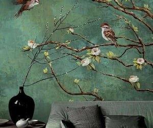 birds, sparrow, and decorations image