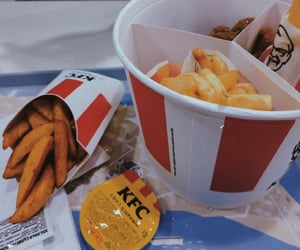 food, French Fries, and KFC image