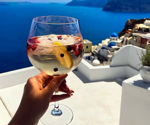 drink, cocktail, and Greece image