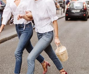 blouse, outfit, and sandals image
