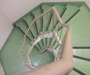 green, stairs, and aesthetic image