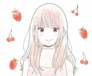 anime, anime girl, and cherry image