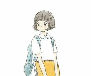 anime girl, little, and yellow image