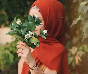 flower, حجاب, and hijab image