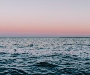 beach, deep, and sunset image