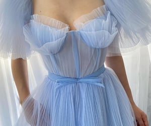 beautiful, haute couture, and blue image