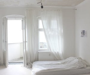 white, room, and bedroom image