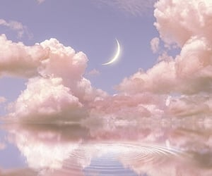 aesthetic, clouds, and moon image