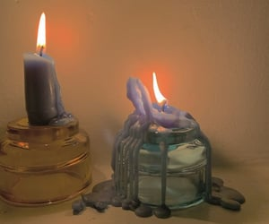 aesthetic, candle, and fire image
