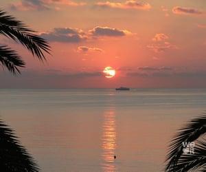 sunset, beach, and sun image