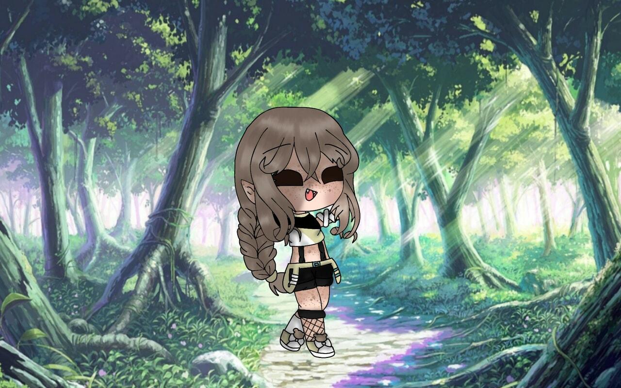 elf, girl, and gacha club image