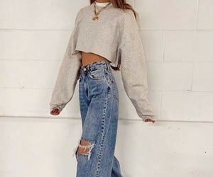 comfy, outfit, and jeans image