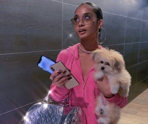 pink, dog, and aesthetic image
