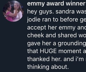 sandra oh, emmys, and jodie comer image