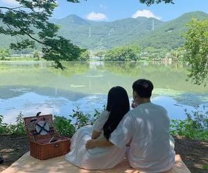 couple, cozy, and green image