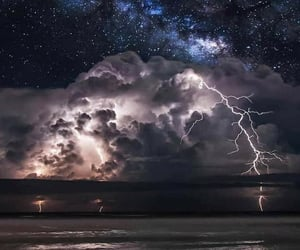 nature, storm, and night image