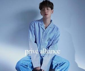 blue, kpop, and baekhyun image