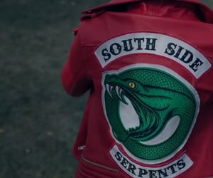 serpents, red, and riverdale image