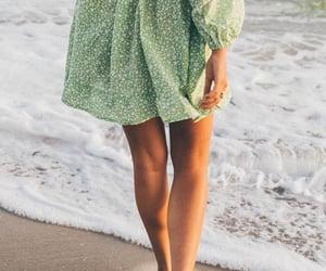 beach, dress, and fashion image