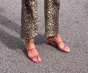 ankle bracelet, flared pants, and leopard print pants image