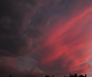 cloud, sunset, and pink image