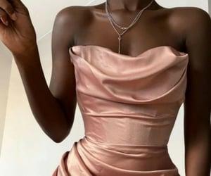 fashion, dress, and rose gold image