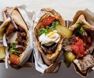 kebab, pickle, and steak image