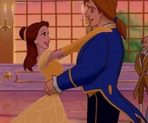 disney, beauty and the beast, and couple image