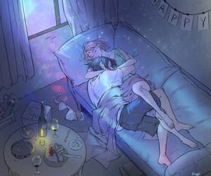 anime, hug, and naruto image