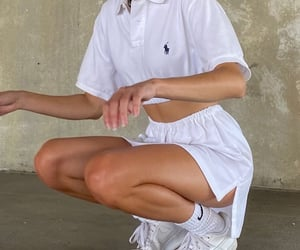 ralph lauren polo, white outfit, and fashion style mode image