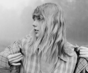 black and white, folklore, and Taylor Swift image