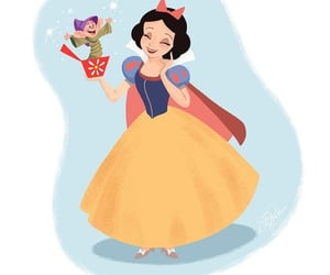 blanche neige, simplet, and snowwhite image