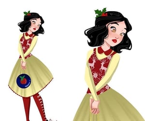 blanche neige, christmas, and modern image