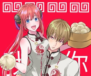 anime, love, and okita image
