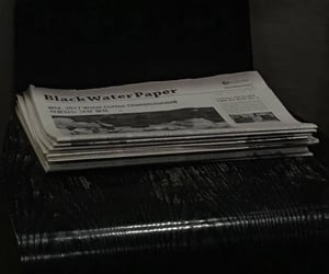newspaper, peaceful, and good night image