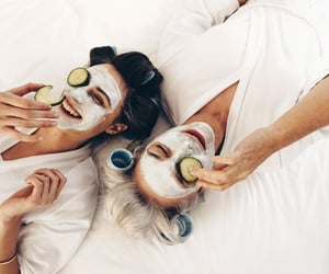 self care, face mask, and cucumber mask image