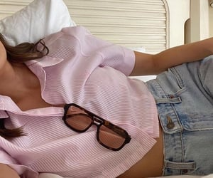 button up shirt, cute summer outfit, and fashion style mode image