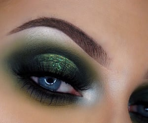 beauty, emerald, and makeup image