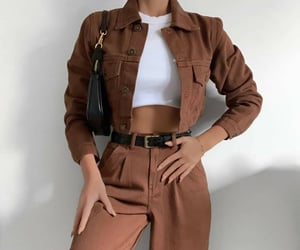 style, outfit, and brown image