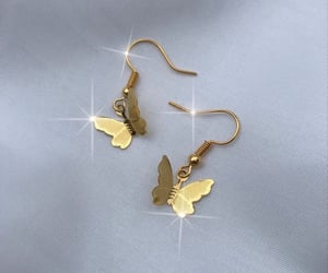 butterfly, gold, and jewelry image