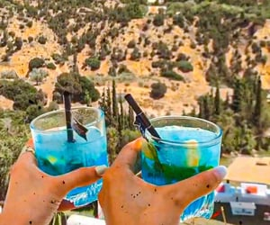 blue, drinks, and chill image