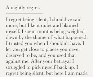quote, regret, and betrayal image